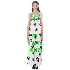 My Coton Walks On Me Empire Waist Maxi Dress