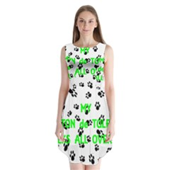 My Coton Walks On Me Sleeveless Chiffon Dress