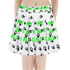 My Coton Walks On Me Pleated Mini Skirt