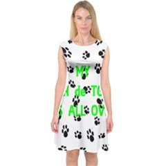 My Coton Walks On Me Capsleeve Midi Dress