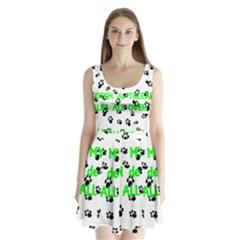 My Coton Walks On Me Split Back Mini Dress