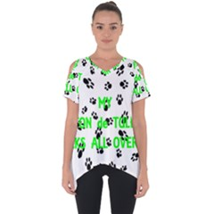 My Coton Walks On Me Cut Out Side Drop Tee