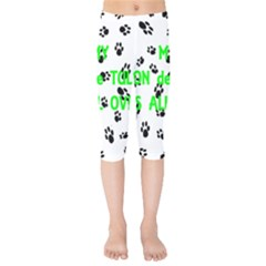 My Coton Walks On Me Kids  Capri Leggings