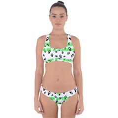My Coton Walks On Me Cross Back Hipster Bikini Set