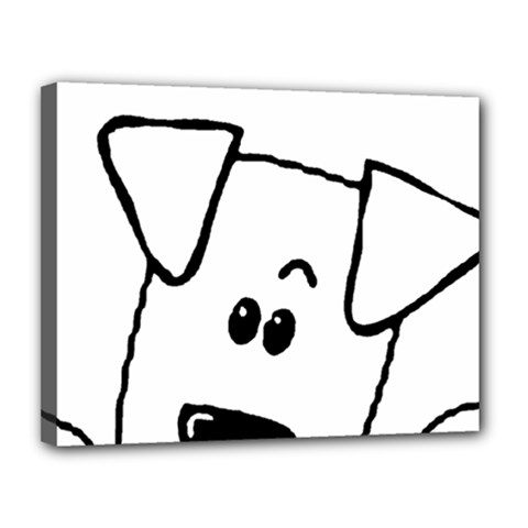 Peeping Coton Canvas 14  X 11
