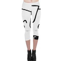 Peeping Coton Capri Leggings
