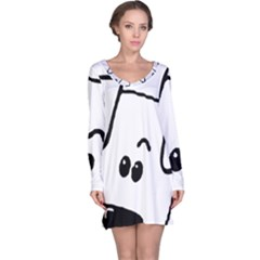 Peeping Coton Long Sleeve Nightdress
