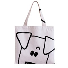 Peeping Coton Zipper Grocery Tote Bag