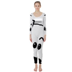 Peeping Coton Long Sleeve Catsuit