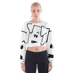 Peeping Coton Cropped Sweatshirt