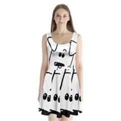 Peeping Coton Split Back Mini Dress