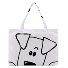 Peeping Coton Zipper Medium Tote Bag