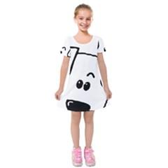 Peeping Coton Kids  Short Sleeve Velvet Dress