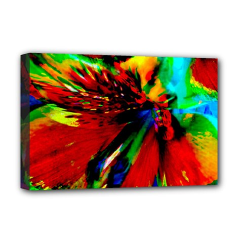 Flowers With Color Kick 1 Deluxe Canvas 18  X 12