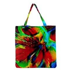 Flowers With Color Kick 1 Grocery Tote Bag