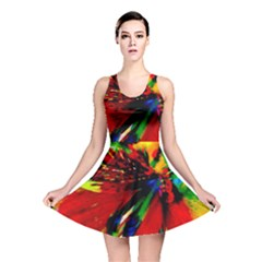 Flowers With Color Kick 1 Reversible Skater Dress