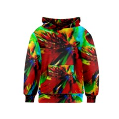 Flowers With Color Kick 1 Kids  Pullover Hoodie