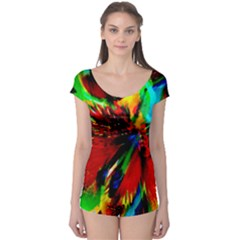 Flowers With Color Kick 1 Boyleg Leotard