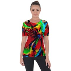 Flowers With Color Kick 1 Short Sleeve Top
