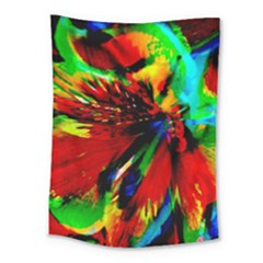 Flowers With Color Kick 1 Medium Tapestry