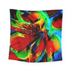 Flowers With Color Kick 1 Square Tapestry (small)