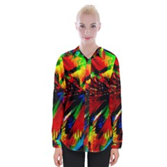 Flowers With Color Kick 1 Womens Long Sleeve Shirt