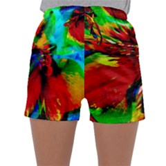 Flowers With Color Kick 1 Sleepwear Shorts