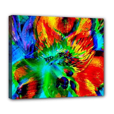 Flowers With Color Kick 2 Deluxe Canvas 24  X 20