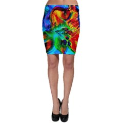 Flowers With Color Kick 2 Bodycon Skirt