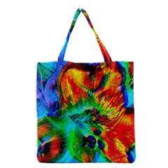 Flowers With Color Kick 2 Grocery Tote Bag