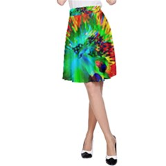 Flowers With Color Kick 2 A Line Skirt