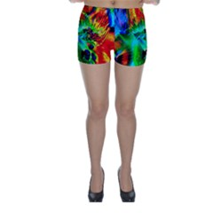 Flowers With Color Kick 2 Skinny Shorts