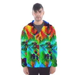 Flowers With Color Kick 2 Hooded Wind Breaker (men)