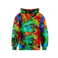 Flowers With Color Kick 2 Kids  Pullover Hoodie