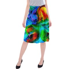 Flowers With Color Kick 2 Midi Beach Skirt