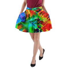 Flowers With Color Kick 2 A Line Pocket Skirt