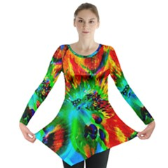 Flowers With Color Kick 2 Long Sleeve Tunic