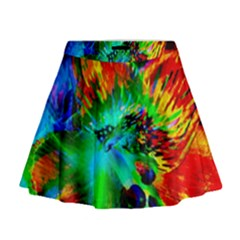 Flowers With Color Kick 2 Mini Flare Skirt