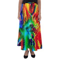 Flowers With Color Kick 2 Flared Maxi Skirt
