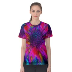 Flowers With Color Kick 3 Women s Cotton Tee