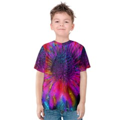 Flowers With Color Kick 3 Kids  Cotton Tee