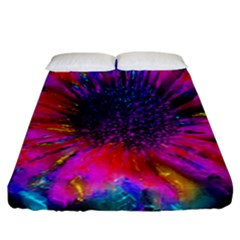 Flowers With Color Kick 3 Fitted Sheet (california King Size)