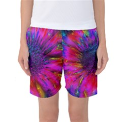 Flowers With Color Kick 3 Women s Basketball Shorts