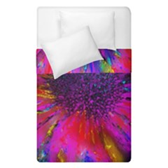 Flowers With Color Kick 3 Duvet Cover Double Side (single Size)