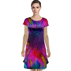Flowers With Color Kick 3 Cap Sleeve Nightdress
