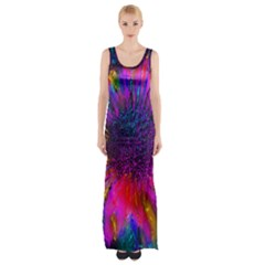 Flowers With Color Kick 3 Maxi Thigh Split Dress