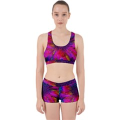 Flowers With Color Kick 3 Work It Out Sports Bra Set