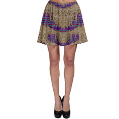 Pearl Lace And Smiles In Peacock Style Skater Skirt