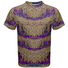 Pearl Lace And Smiles In Peacock Style Men s Cotton Tee