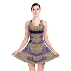 Pearl Lace And Smiles In Peacock Style Reversible Skater Dress